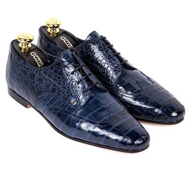 Туфли Zilli из крокодиловой кожи