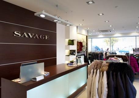 Интерьер одного из магазинов Savage