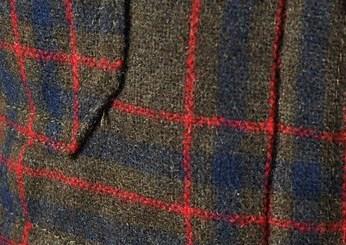 Фрагмент пиджака из шерсти шевиот