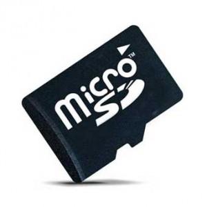 Карта памяти microSD (в сильно увеличенном виде)