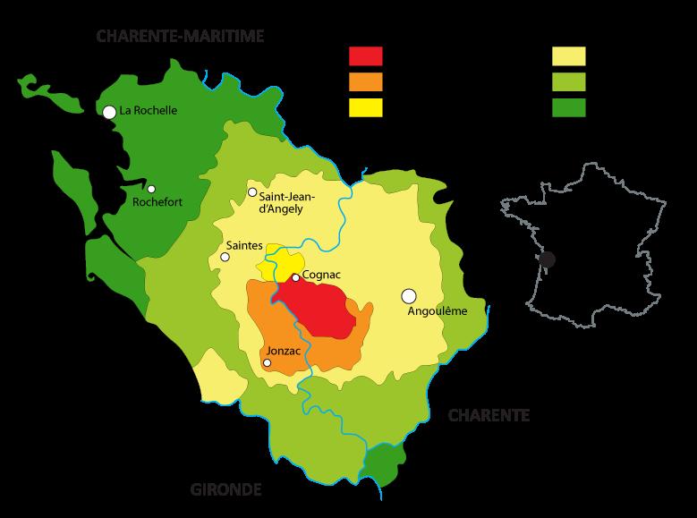 Карта провинции Коньяк