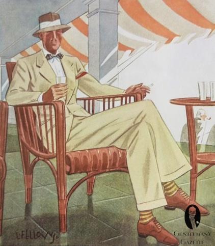 Льняной костюм 1935 года