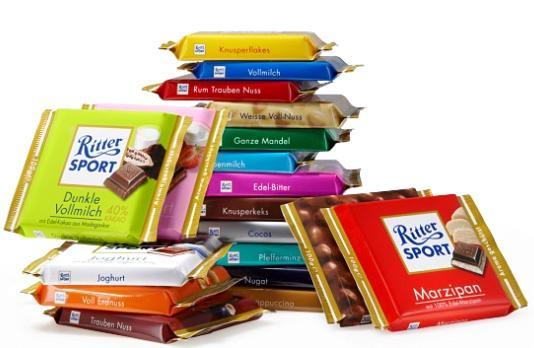 Спектр шоколада Ritter Sport