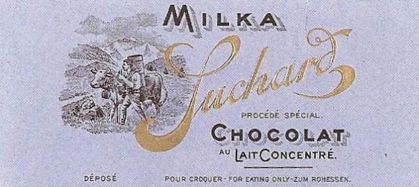 Одна из первых версий упаковки Milka