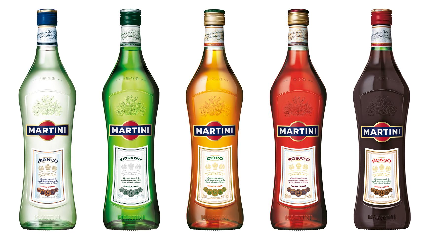 Линейка вермутов Martini