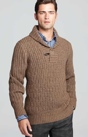 Hugo Boss shawl collar sweater