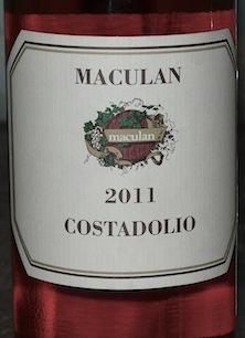 Этикетка вина Maculan Costadolio