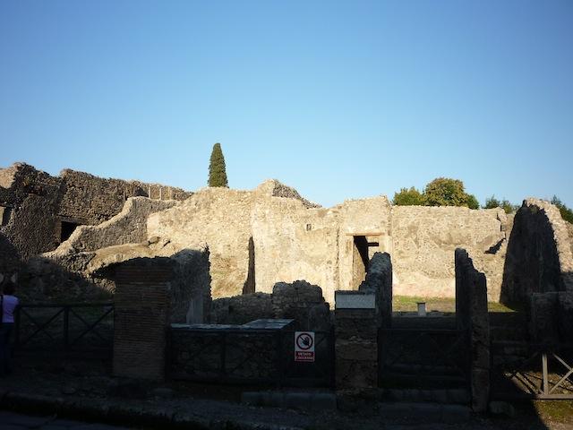 Остатки города Помпеи