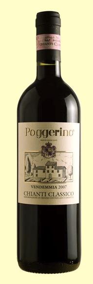 Бутылка вина Chianti Classico от Poggerino