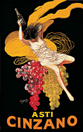 Игристое вино Cinzano Asti, Leonetto Cappiello, 1910