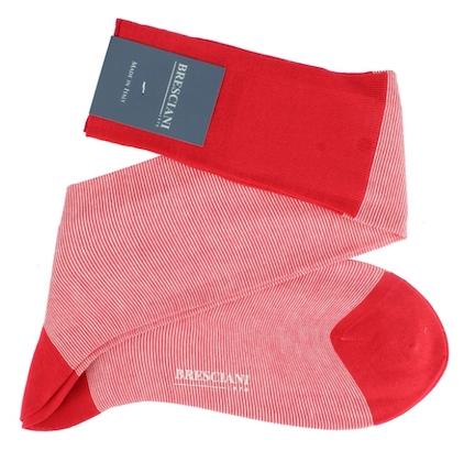 Bresciani pinstripe socks