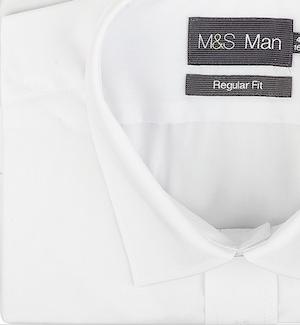 Рубашка Marks&Spencer Easy Care, сделанная из смеси полиэстера и хлопка