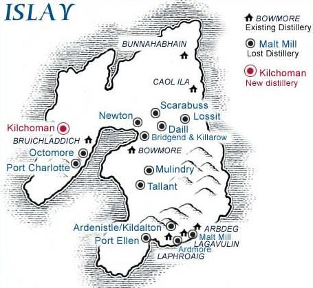 Карта острова Айла