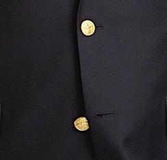 Металлические пуговицы на блейзере Brooks Brothers