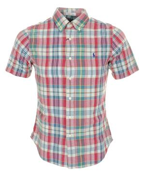Рубашка в линялую мадрасскую клетку (Polo Ralph Lauren)