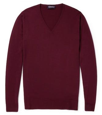 Пуловер из мериносовой шерсти марки John Smedley