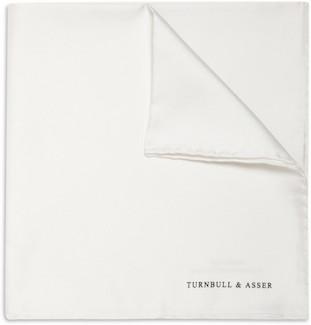 Платок из однотонного белого шёлка от Turnbull&Asser