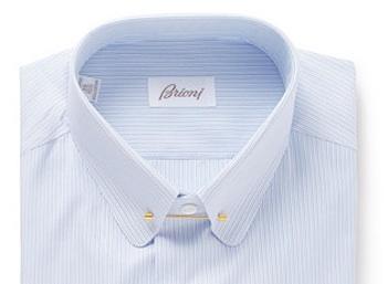Воротник на булавке (рубашка Brioni)