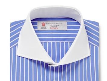 Рубашка с контрастным воротником (Turnbull&Asser)