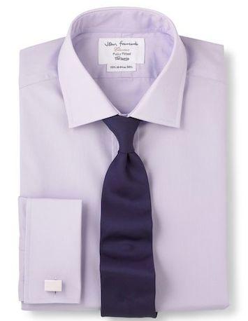 Поплиновая рубашка T.M.Lewin лавандового цвета