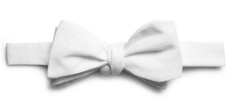 Белый галстук-бабочка из хлопка-пике (Brooks Brothers)