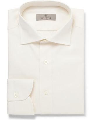 Рубашка с легким оттенком слоновой кости (Canali)