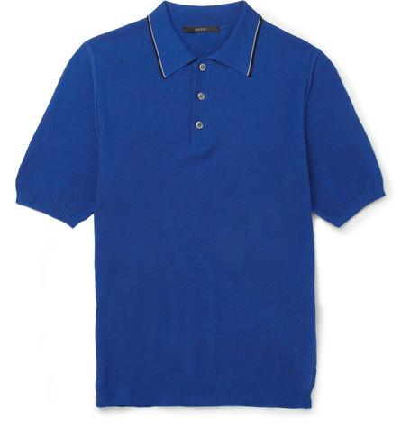Рубашка-поло из хлопка-пике (Gucci)