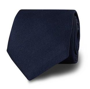 "Однотонный галстук T.M.Lewin с узором ""ёлочка"""