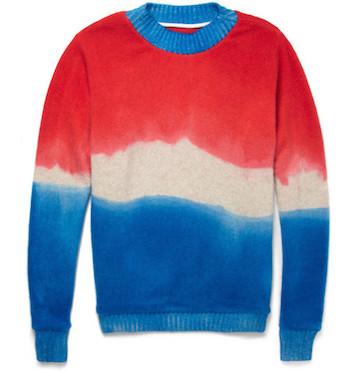 Пуловер The Elder Statesmen (dip-dyed)
