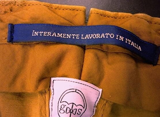 Sartorial waistband split