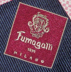 Логотип Fumagalli на одном из их галстуков