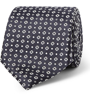 Строгий галстук с фуляровым узором (Canali)