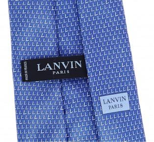 Галстук Lanvin - ярлык вместо петли