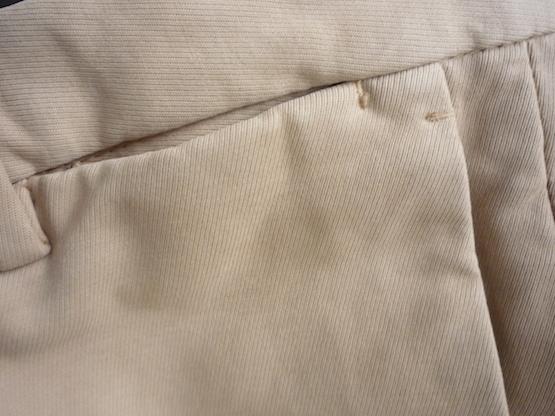Карман у пояса на брюках Incotex