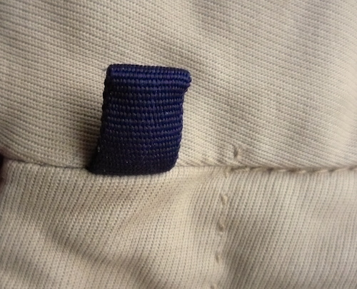 belt hook holder on Incotex pants