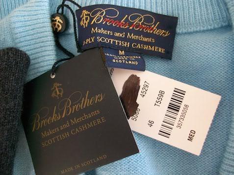 Свитер Brooks Brothers из шотландского кашемира