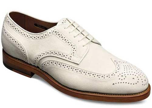 Белые туфли из buckskin