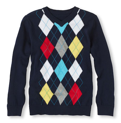 Argyle sweater