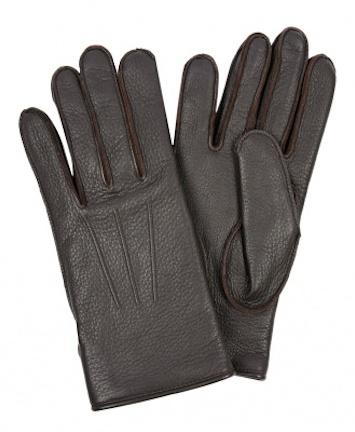 Перчатки Lanvin из оленьей кожи