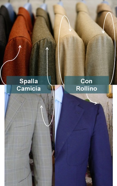 Spalla camicia and con rollino