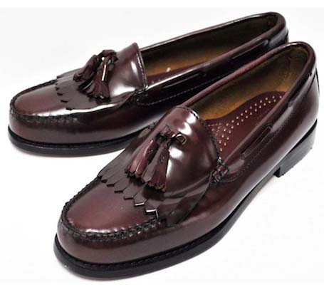 Bass kiltie loafers