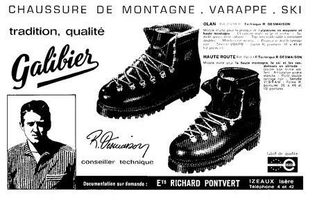 Старая реклама ботинок Galibier