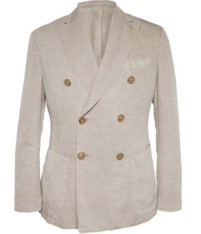 Двубортный unstructured пиджак Slowear