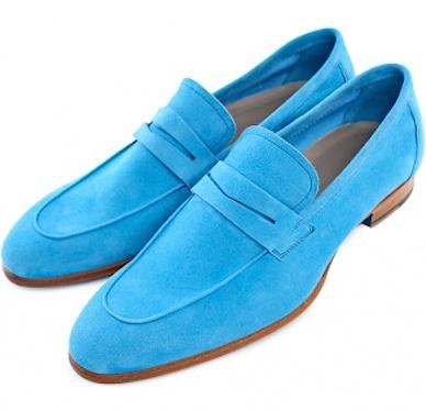 Голубые лоаферы Kiton