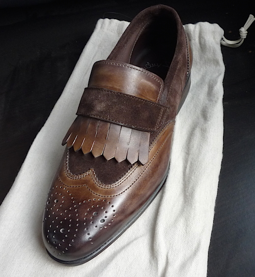 Santoni kiltie brogue loafers