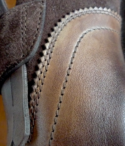 Santoni leather