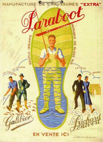 Старый плакат Paraboot