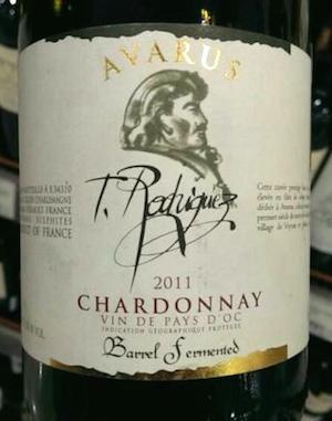 Этикетка Avarus Chardonnay