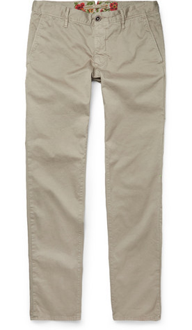 Incotex Garment-Dyed chinos