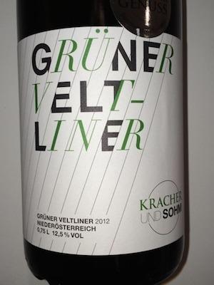 Kracher und Sohm - Gruner Veltliner 2012